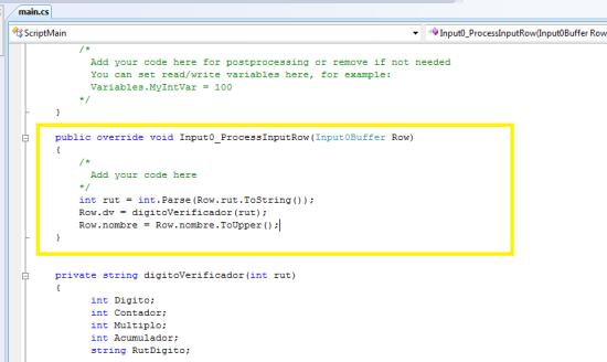 ETL - Componente Script